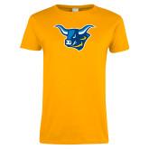 Ladies Gold T Shirt-Ox Head