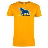 Ladies Gold T Shirt-Ox Body