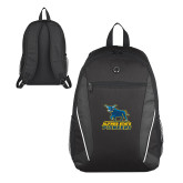 Atlas Black Computer Backpack-Primary Mark - Athletics