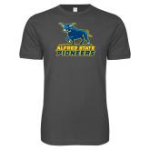 Next Level SoftStyle Charcoal T Shirt-Primary Mark - Athletics