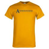 Gold T Shirt-Institutional Mark - Horizontal