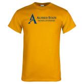 Gold T Shirt-Institutional Mark - 3 Lines - Horizontal