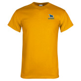 Gold T Shirt-Primary Mark - Athletics