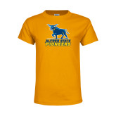 Youth Gold T Shirt-Primary Mark - Athletics