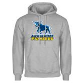 Grey Fleece Hoodie-Primary Mark - Athletics
