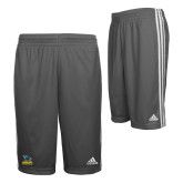 Adidas Climalite Charcoal Practice Short-Primary Mark - Athletics