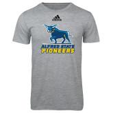Adidas Sport Grey Logo T Shirt-Primary Mark - Athletics