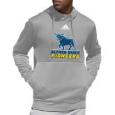 Adidas Grey Team Issue Hoodie-Primary Mark - Athletics