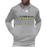 Adidas Grey Team Issue Hoodie-Word Mark