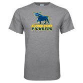 Grey T Shirt-Primary Mark - Athletics