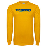 Gold Long Sleeve T Shirt-Pioneers Stacked