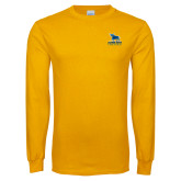 Gold Long Sleeve T Shirt-Primary Mark - Athletics
