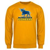 Gold Fleece Crew-Primary Mark - Athletics