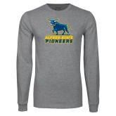 Grey Long Sleeve T Shirt-Primary Mark - Athletics