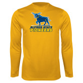 Performance Gold Longsleeve Shirt-Primary Mark - Athletics