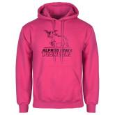 Fuchsia Fleece Hoodie-Primary Mark - Athletics Foil