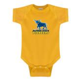 Gold Infant Onesie-Primary Mark - Athletics