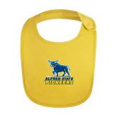 Yellow Baby Bib-Primary Mark - Athletics