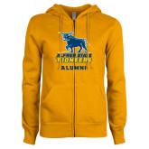 ENZA Ladies Gold Fleece Full Zip Hoodie-Alumni