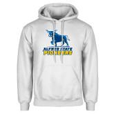 White Fleece Hoodie-Primary Mark - Athletics