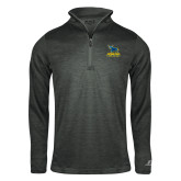 Russell Charcoal Heather 1/4 Zip-Primary Mark - Athletics