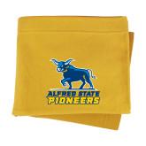 Gold Sweatshirt Blanket-Primary Mark - Athletics