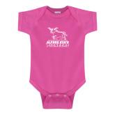 Fuchsia Infant Onesie-Primary Mark - Athletics