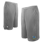 Russell Performance Grey 10 Inch Short w/Pockets-Primary Mark - Athletics