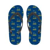 Ladies Full Color Flip Flops-Primary Mark - Athletics