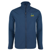 Navy Softshell Jacket-Primary Mark - Athletics