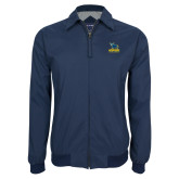 Navy Players Jacket-Primary Mark - Athletics