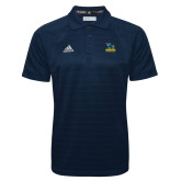 Adidas Climalite Navy Jacquard Select Polo-Primary Mark - Athletics