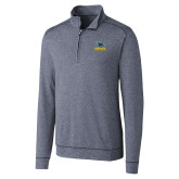 Cutter & Buck Shoreline Navy 1/2 Zip-Primary Mark - Athletics