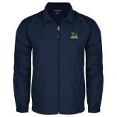 Full Zip Navy Wind Jacket-Primary Mark - Athletics