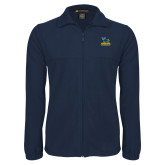 Fleece Full Zip Navy Jacket-Primary Mark - Athletics
