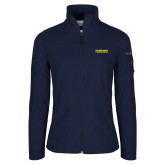 Columbia Ladies Full Zip Navy Fleece Jacket-Word Mark