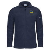 Columbia Full Zip Navy Fleece Jacket-Primary Mark - Athletics
