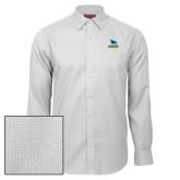 Red House White Diamond Dobby Long Sleeve Shirt-Primary Mark - Athletics