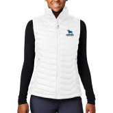 Columbia Lake 22 Ladies White Vest-Primary Mark - Athletics