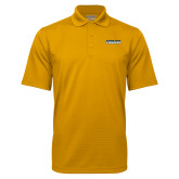 Gold Mini Stripe Polo-Word Mark