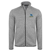 Grey Heather Fleece Jacket-Primary Mark - Athletics