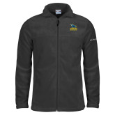 Columbia Full Zip Charcoal Fleece Jacket-Primary Mark - Athletics