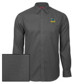 Red House Dark Charcoal Diamond Dobby Long Sleeve Shirt-Primary Mark - Athletics