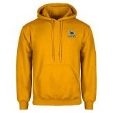 Gold Fleece Hoodie-Primary Mark - Athletics