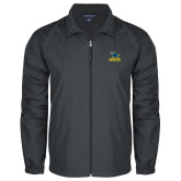 Full Zip Charcoal Wind Jacket-Primary Mark - Athletics