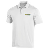 Under Armour White Performance Polo-Word Mark