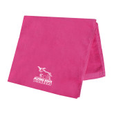 Pink Beach Towel-Primary Mark - Athletics