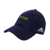 Adidas Navy Slouch Unstructured Low Profile Hat-Word Mark