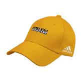 Adidas Gold Structured Adjustable Hat-Word Mark