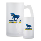 Full Color Decorative Frosted Glass Mug 16oz-Primary Mark - Athletics